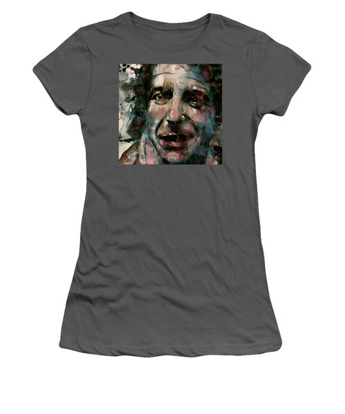 Women's T-Shirt (Junior Cut) featuring the painting And She Feeds You Tea And Oranges That Come All The Way From China  by Paul Lovering