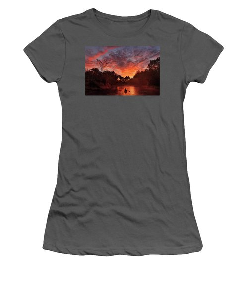 And The Day Begins Women's T-Shirt (Junior Cut) by Robert Charity