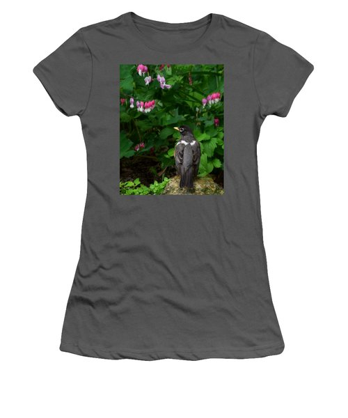 Angel In The Garden Women's T-Shirt (Junior Cut) by Kathy M Krause