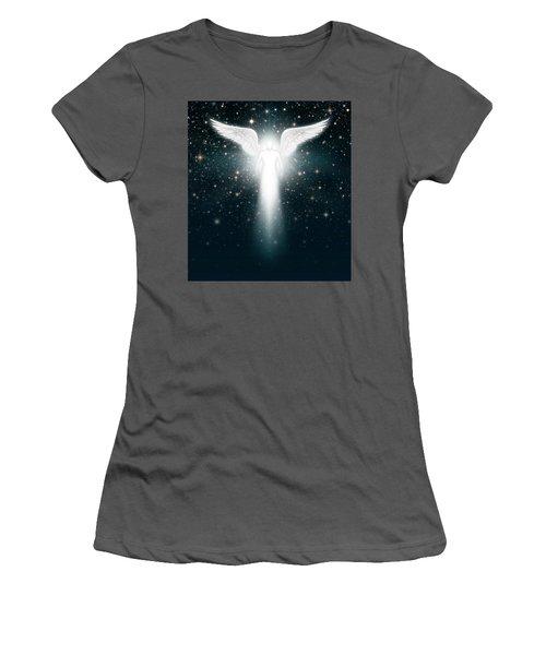 Angel In The Night Sky Women's T-Shirt (Junior Cut)