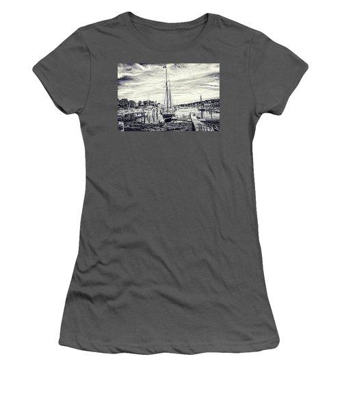 Women's T-Shirt (Junior Cut) featuring the digital art Angelique Resting At Home by Daniel Hebard