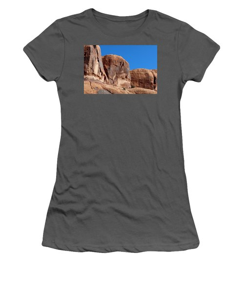 Angry Rock  Women's T-Shirt (Athletic Fit)