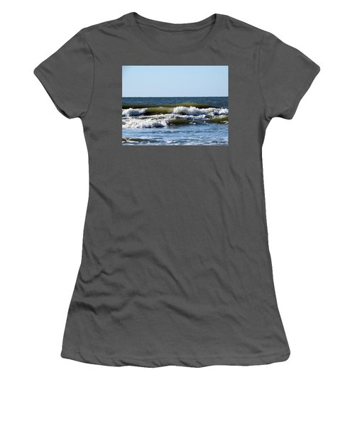 Angry Sea Women's T-Shirt (Junior Cut) by Cathy Harper