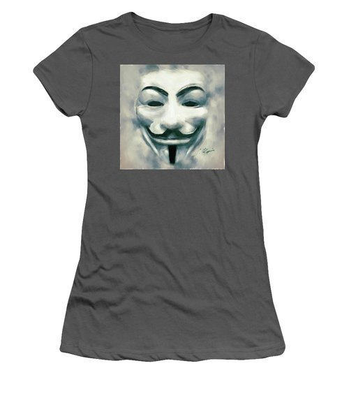 Anonymous Women's T-Shirt (Athletic Fit)