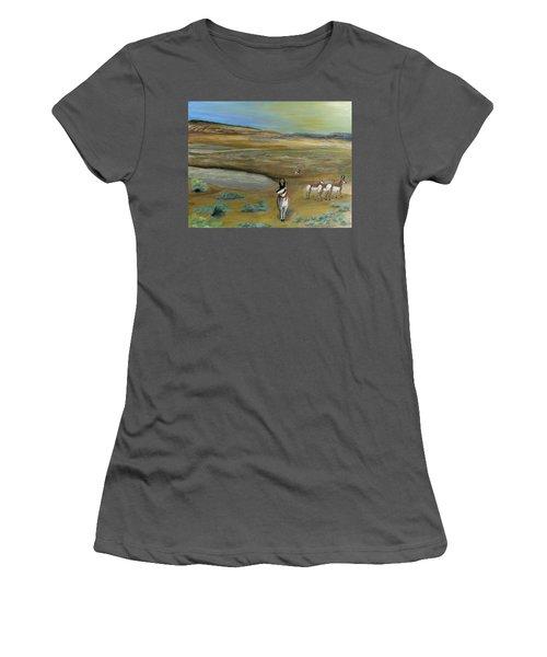 Antelopes Women's T-Shirt (Athletic Fit)