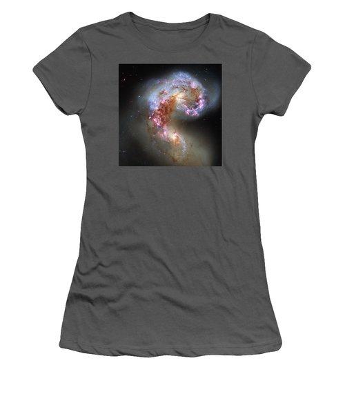 Women's T-Shirt (Junior Cut) featuring the photograph Antennae Galaxies Reloaded by Nasa