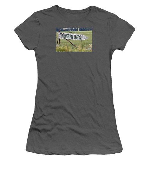 Women's T-Shirt (Junior Cut) featuring the photograph Antiques  by Juls Adams