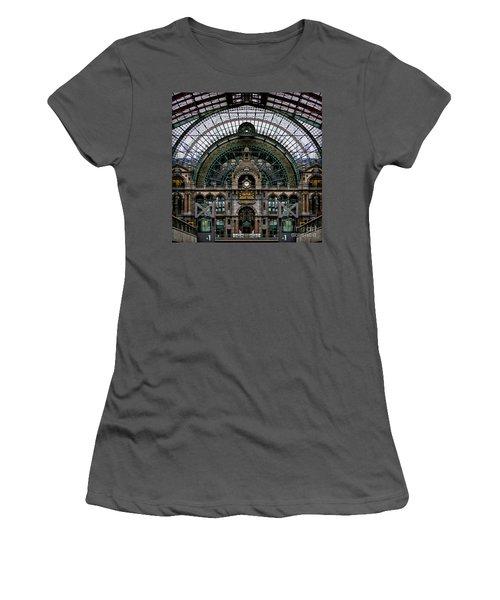 Antwerp Train Terminal Women's T-Shirt (Athletic Fit)