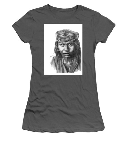 Apache Boy Women's T-Shirt (Junior Cut) by Lawrence Tripoli