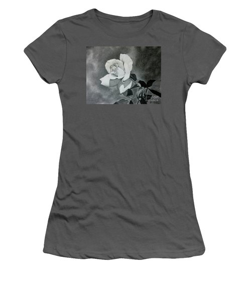 Women's T-Shirt (Junior Cut) featuring the drawing Aperitif Rose by Terri Mills
