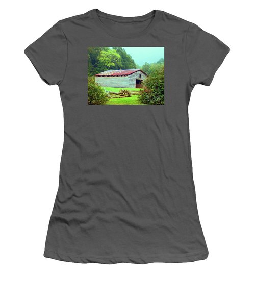 Appalachian Livestock Barn Women's T-Shirt (Athletic Fit)
