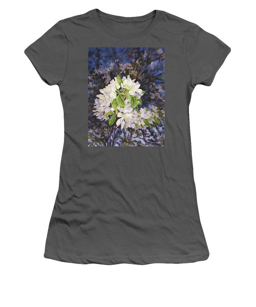 Apple Blossoms At Dusk Women's T-Shirt (Junior Cut) by Anne Gifford