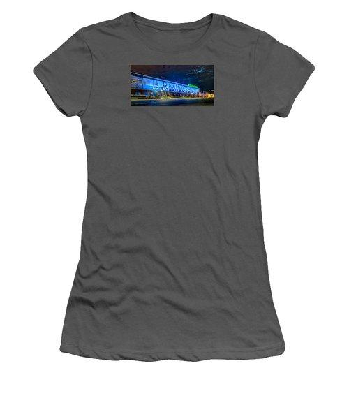 April 2015 -  Birmingham Alabama Baseball Regions Field At Night Women's T-Shirt (Junior Cut) by Alex Grichenko