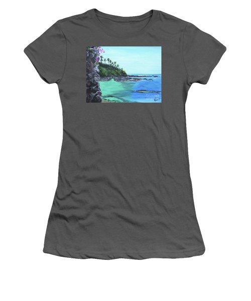 Aqua Passage Women's T-Shirt (Athletic Fit)