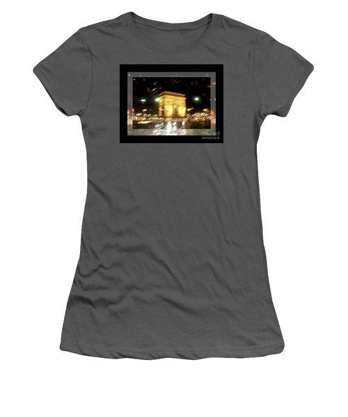 Arc De Triomphe By Bus Tour Greeting Card Poster V1 Women's T-Shirt (Junior Cut) by Felipe Adan Lerma