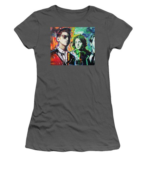 Women's T-Shirt (Junior Cut) featuring the painting Arctic Monkeys by Richard Day