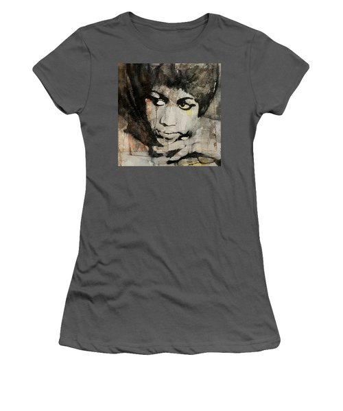Aretha Franklin - Don't Play That Song For Me  Women's T-Shirt (Athletic Fit)