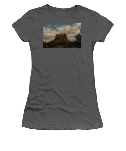 Women's T-Shirt (Athletic Fit) featuring the photograph Arizona Red Rocks Sedona 0222 by David Haskett