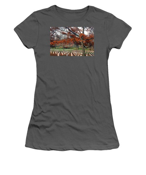 Arlington Cemetery In Fall Women's T-Shirt (Athletic Fit)
