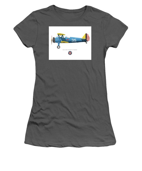 Army Air Corps Pt-17 Women's T-Shirt (Athletic Fit)