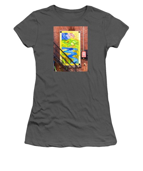 Art And The Fire Escape Women's T-Shirt (Junior Cut) by Tom Singleton