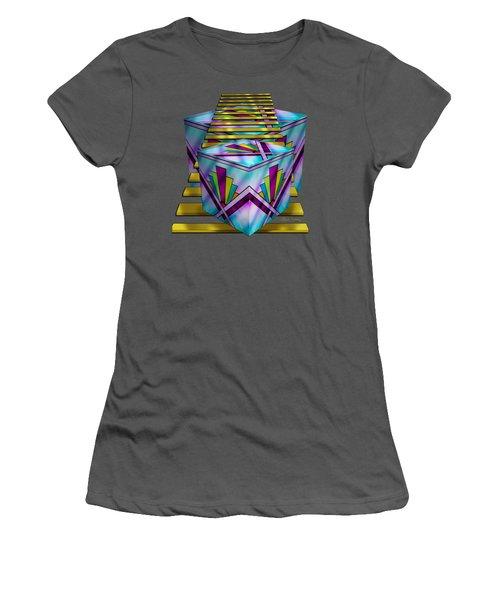 Art Deco Cubes 1 - Transparent Women's T-Shirt (Athletic Fit)