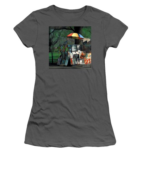 Art In The Park - Central Park New York Women's T-Shirt (Junior Cut) by Miriam Danar