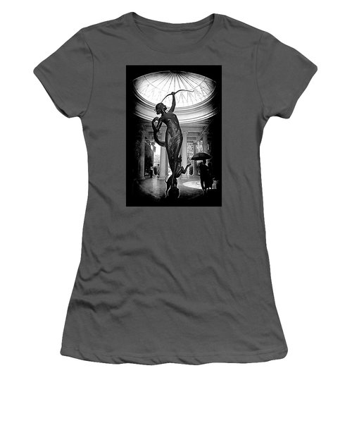 Women's T-Shirt (Junior Cut) featuring the photograph Artemis At Huntington Library by Lori Seaman
