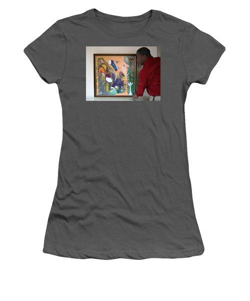 Artist Darrell Black With Dominions Creation Of A New Millennium Women's T-Shirt (Junior Cut) by Darrell Black