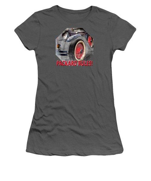 Women's T-Shirt (Junior Cut) featuring the digital art 1930 Packard by Richard Farrington