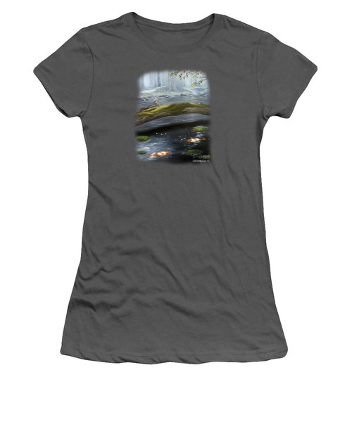 The Wishing Pond  Women's T-Shirt (Junior Cut) by Susan  Rossell