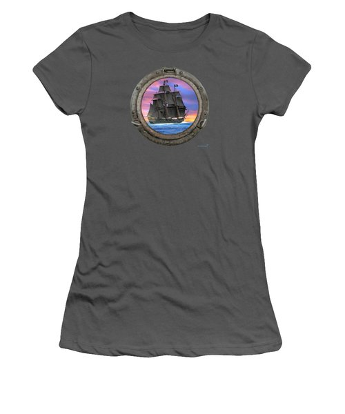 Black Sails Of The 7 Seas Women's T-Shirt (Athletic Fit)