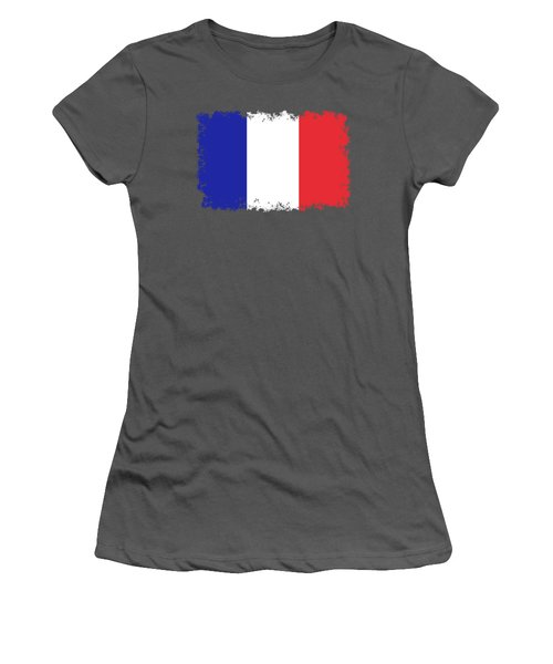 Flag Of France High Quality Authentic Image Women's T-Shirt (Athletic Fit)