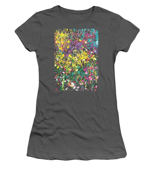 Flower Bed Abstract Women's T-Shirt (Athletic Fit)