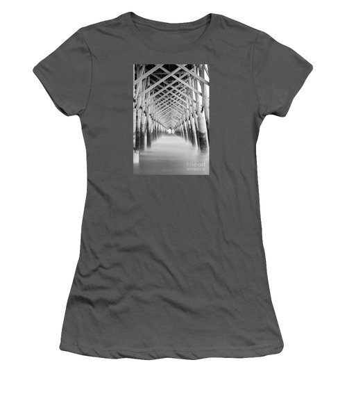 As The Water Fades Grayscale Women's T-Shirt (Athletic Fit)