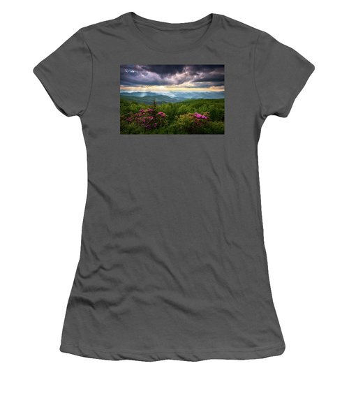 Asheville Nc Blue Ridge Parkway Scenic Landscape Photography Women's T-Shirt (Athletic Fit)