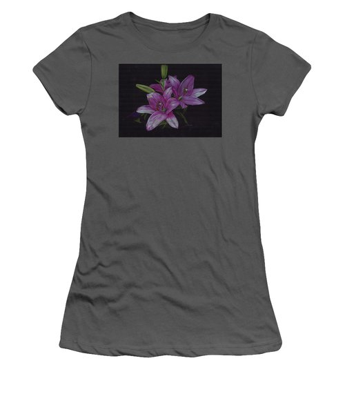 Asian Lillies Women's T-Shirt (Athletic Fit)