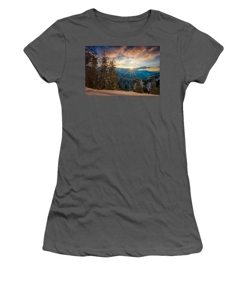 Aspens Sunset After Snowfall Women's T-Shirt (Athletic Fit)