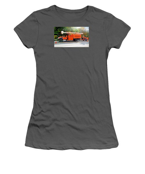 Asplundh Tree Expert Company Trucks Women's T-Shirt (Athletic Fit)