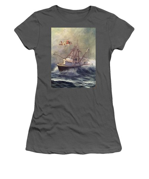 Women's T-Shirt (Junior Cut) featuring the painting Assessment by Stephen Roberson