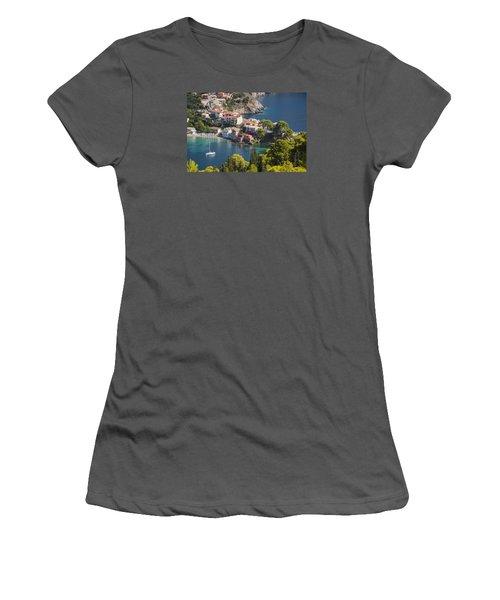 Assos In Greece Women's T-Shirt (Junior Cut) by Rob Hemphill