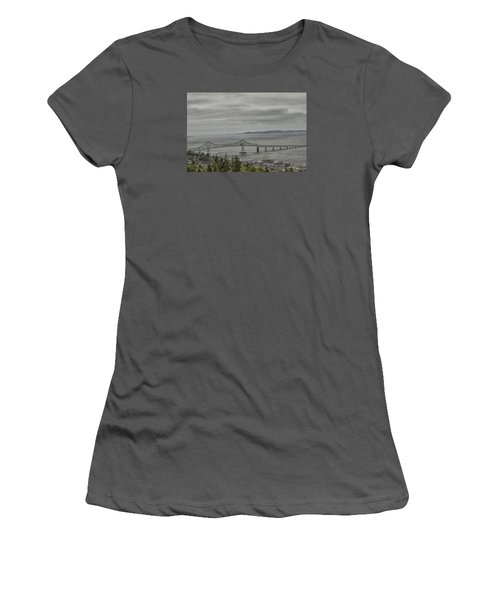 Women's T-Shirt (Junior Cut) featuring the photograph Astoria, Gateway To Oregon by Tom Kelly