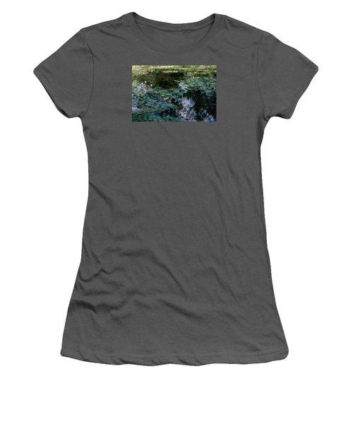 Women's T-Shirt (Junior Cut) featuring the photograph At Claude Monet's Water Garden 10 by Dubi Roman