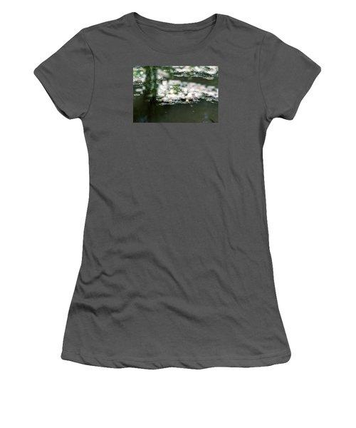 Women's T-Shirt (Junior Cut) featuring the photograph At Claude Monet's Water Garden 5 by Dubi Roman