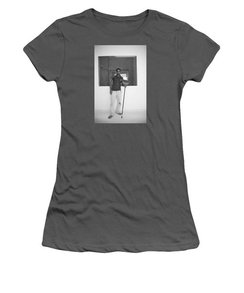 Women's T-Shirt (Junior Cut) featuring the photograph At Your Command by Jez C Self