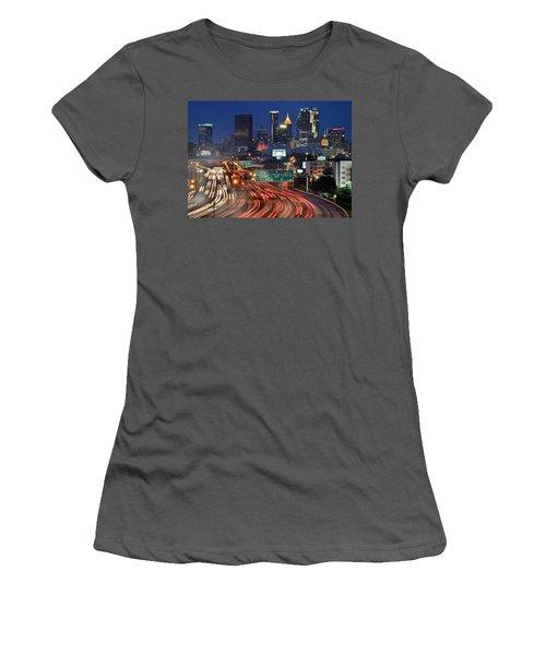 Atlanta Heavy Traffic Women's T-Shirt (Junior Cut) by Frozen in Time Fine Art Photography