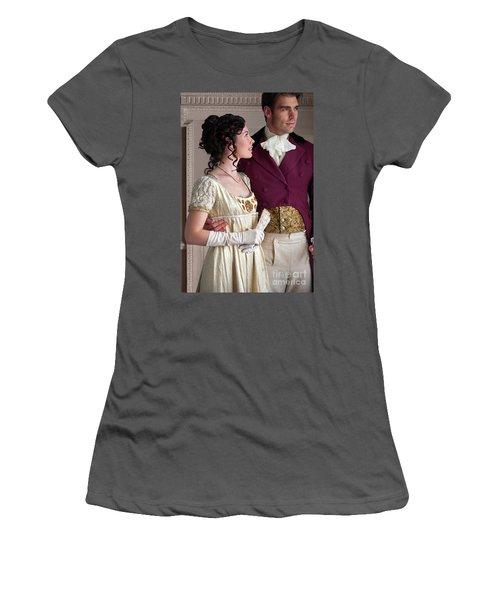 Attractive Regency Couple Women's T-Shirt (Junior Cut) by Lee Avison