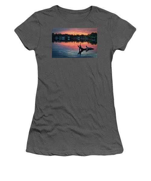 August Sunset Glow Women's T-Shirt (Athletic Fit)