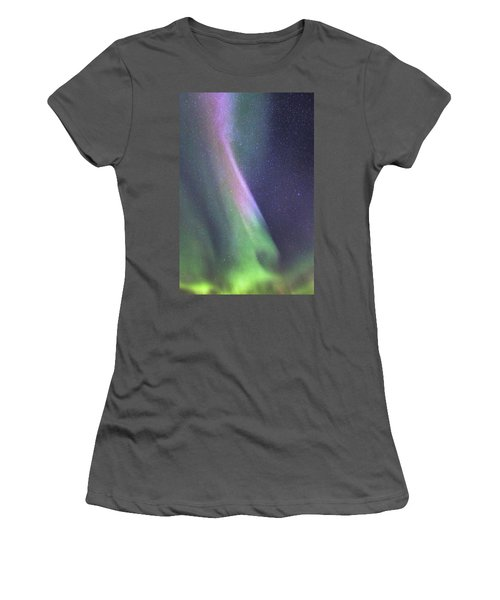 Women's T-Shirt (Junior Cut) featuring the photograph Aurora Abstract by Hitendra SINKAR