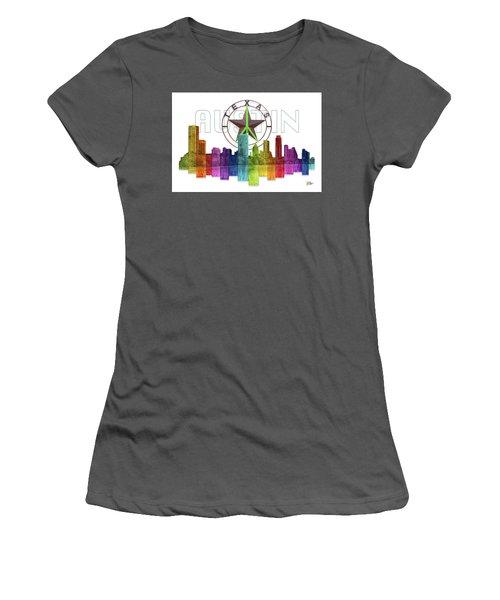 Austin Texas Skyline Women's T-Shirt (Junior Cut) by Doug Kreuger